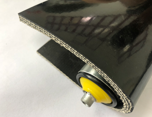 8mm黑色PVC平帶PVK