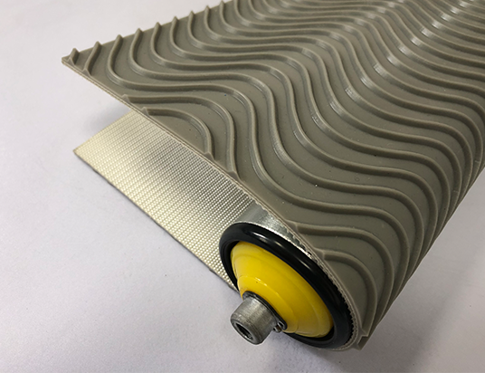4.5mm灰色PVC水波浪紋