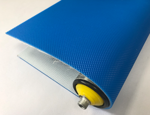 3mm天藍色PVC鉆石紋