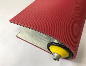 6mm紅色橡塑直條紋