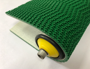5.2mm綠色PVC波浪草花紋