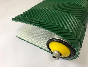 5.5mm綠色PVC魚骨紋