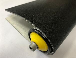 3mm黑色PVC沙皮紋