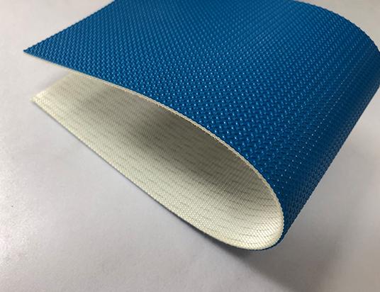 2mm藍色PU米字紋