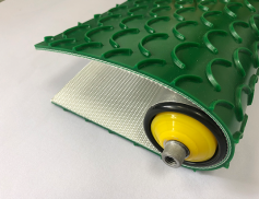 6mm綠色PVC月牙溝紋