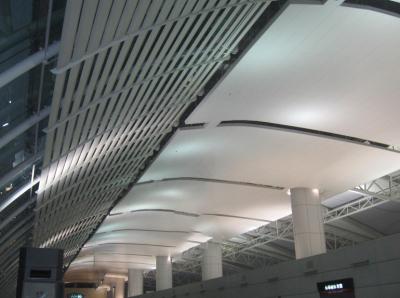 高鐵站雙曲鋁單板安裝