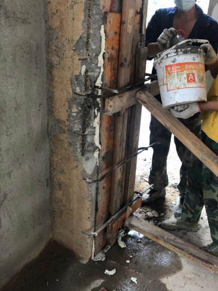 柱漏筋修復