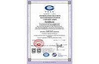 信息安全管理體系認證證書(英文版)