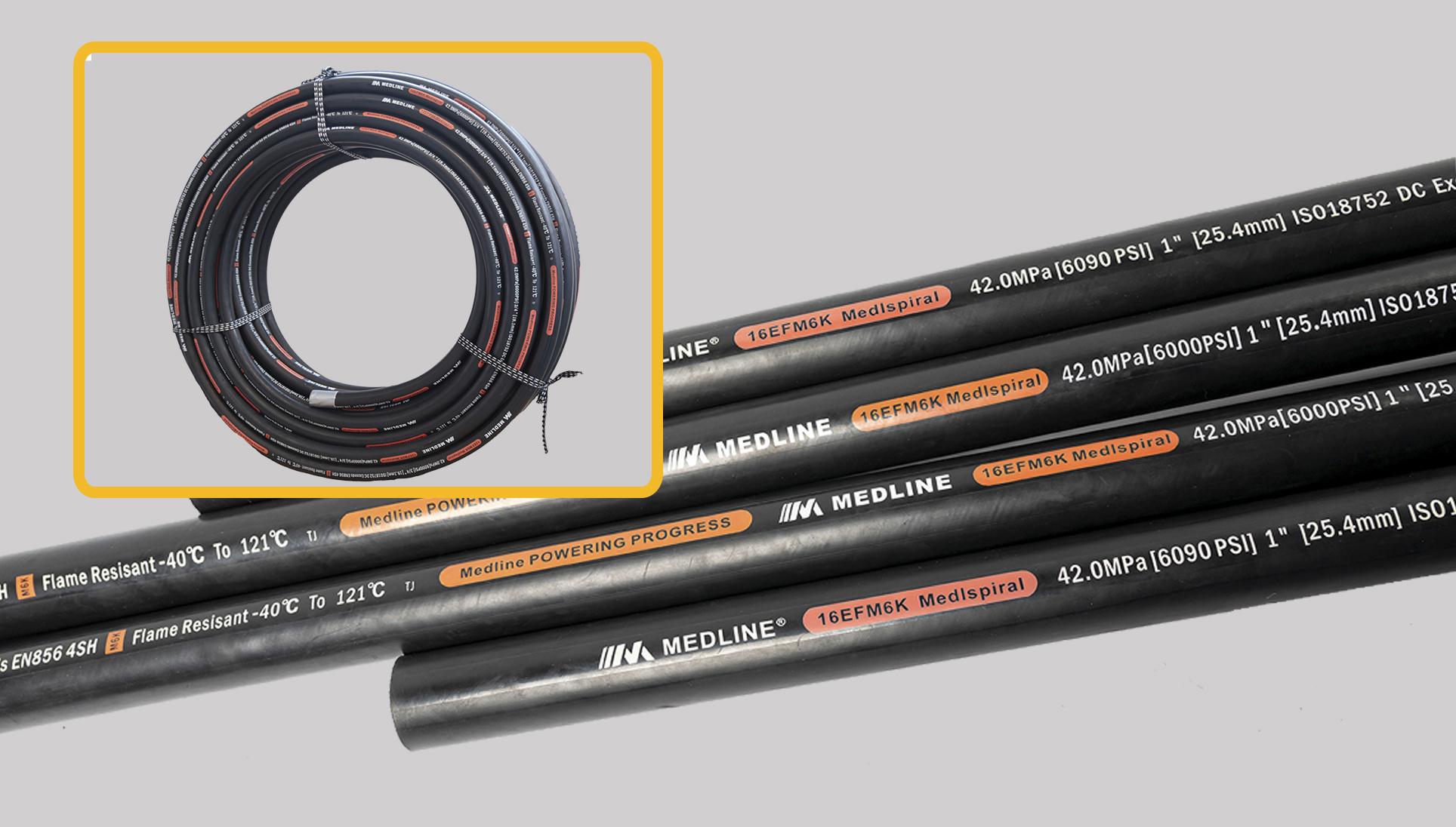 DIN EN856-4SP/4SH 光面四層鋼絲纏繞橡膠液壓軟管