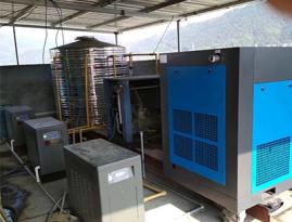 东莞市创明辉光电有限公司空气能热水工程空压机余热回收工程案例