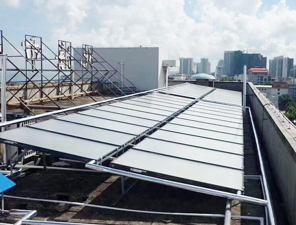 北海人才市场120平方太阳能热水工程+10匹宾馆热泵热水工程