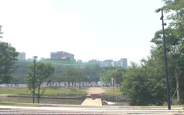 河南安阳迎宾公园亮化