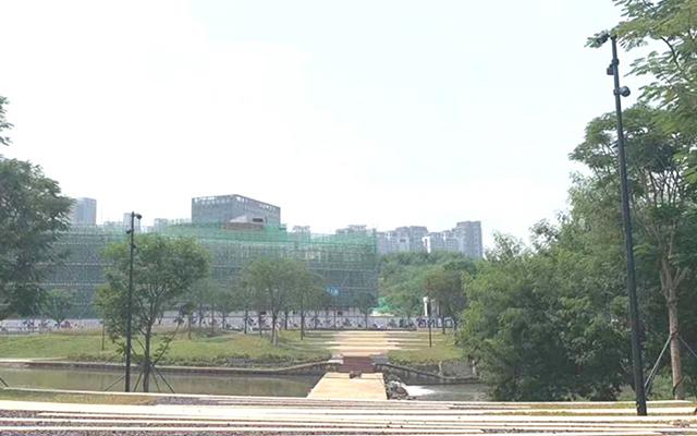 河南安陽迎賓公園亮化