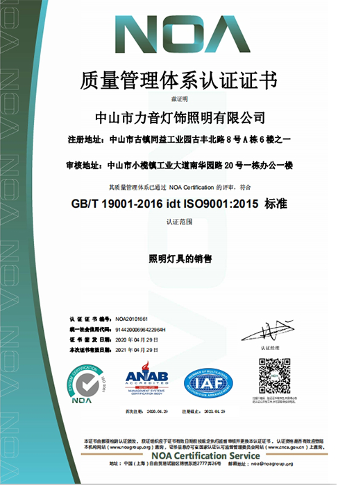 ISO9001 質量管理體係
