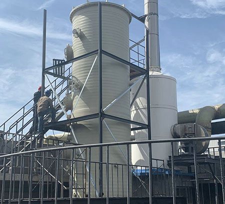 赣州会昌PPH废气处理塔案例