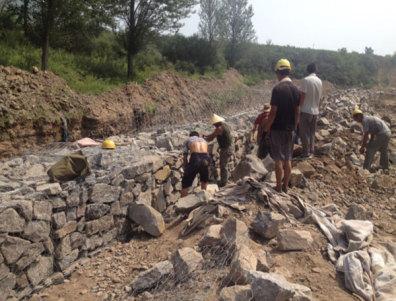 景观石笼施工