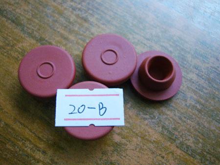 Φ20--B红色胶塞