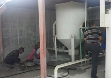 乙炔生产装置设备在赞比亚调试现场