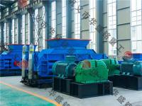 对辊破碎机适用于原料粒度小于5~150mm的物料