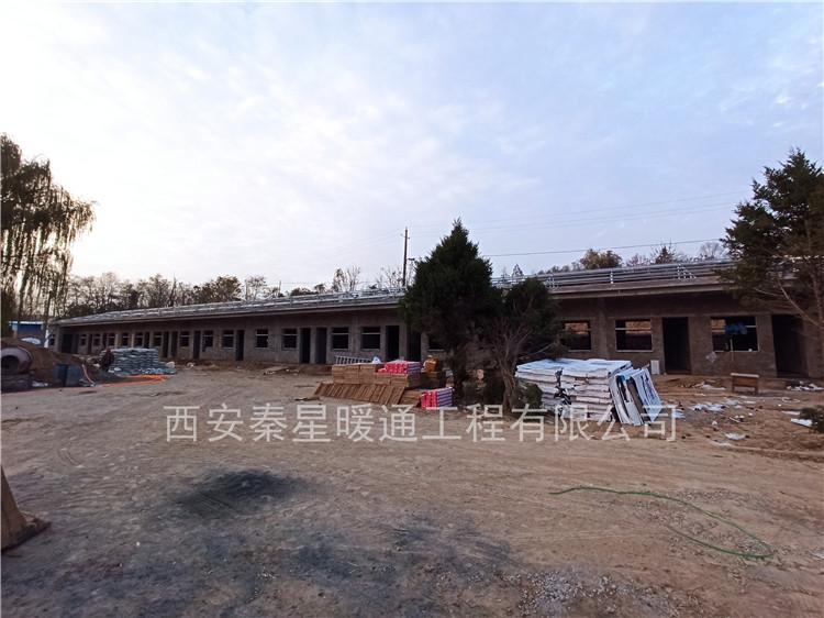 陜西延安黃陵水庫辦公樓電地暖安裝工程