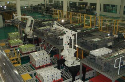 無人工廠包裝高位打包碼垛機