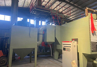 鋼結構通過式拋丸機現場安裝實拍