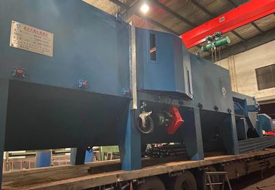 鋼板鋼結構通過式拋丸機出廠發往山東