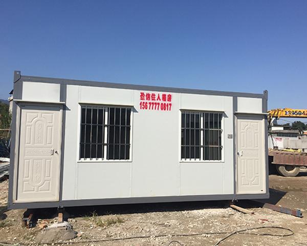 南通中鐵城項目部建造集裝箱房屋