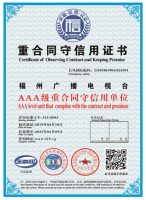 重合同守信用AAA證書