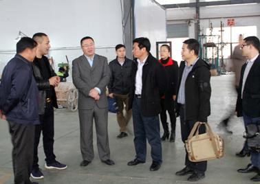 崇左市副市長李平一行領導到本司工廠調研、考察指導
