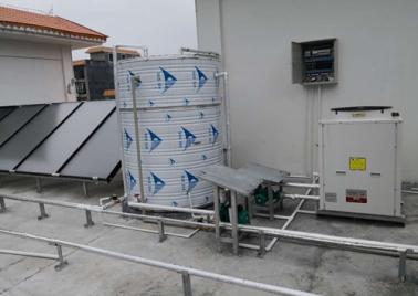 東蘭縣敬老院太陽能平板加空氣源熱泵熱水工程