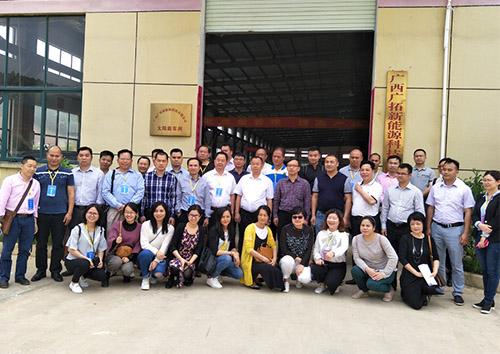 熱烈歡迎桂商協會代表到廣拓太陽能生產基地考察參觀