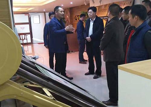 熱烈歡迎河池市東蘭縣領導一行蒞臨我公司參觀考察