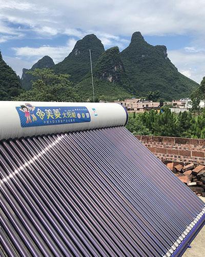農村太陽能熱水器