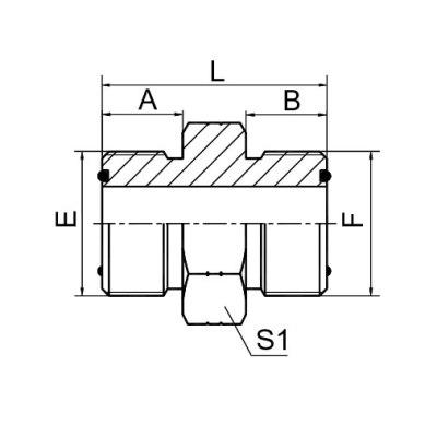 美制ORFS 外螺纹O 形圈平面密封 1F