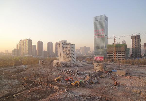 辽宁省科技馆爆破拆除工程