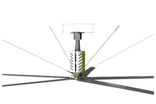 剖析功能優良的超大工業吊扇的扇葉特點