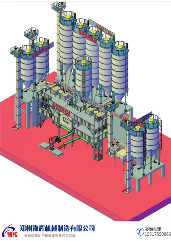 年產30萬噸、20萬噸、15萬噸、10萬噸、5萬噸、3萬噸干粉砂漿生產線設備教你如何選型!