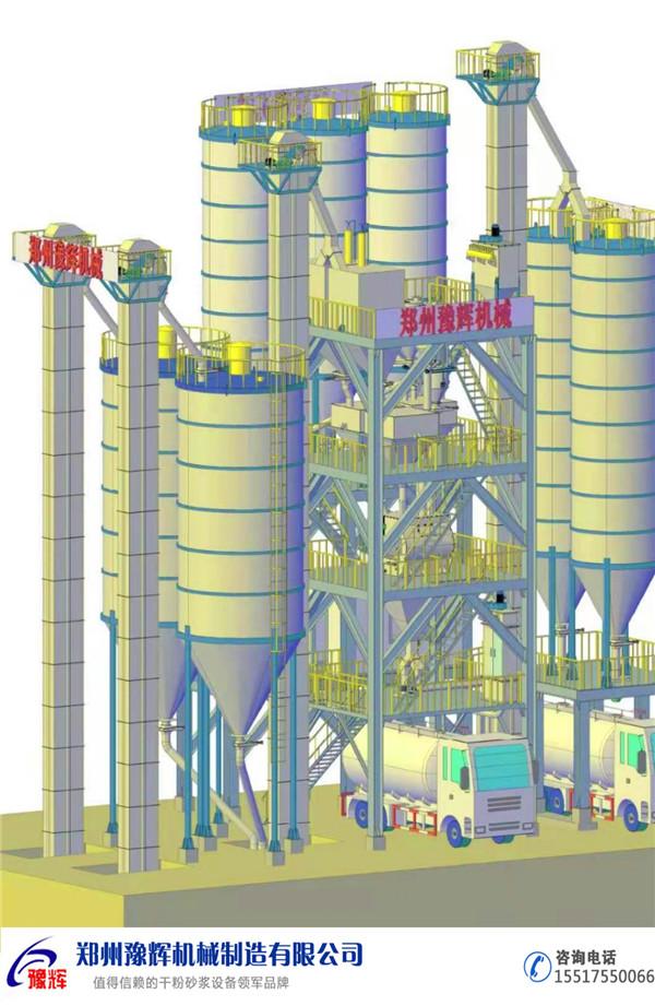 20萬噸干混砂漿生產線