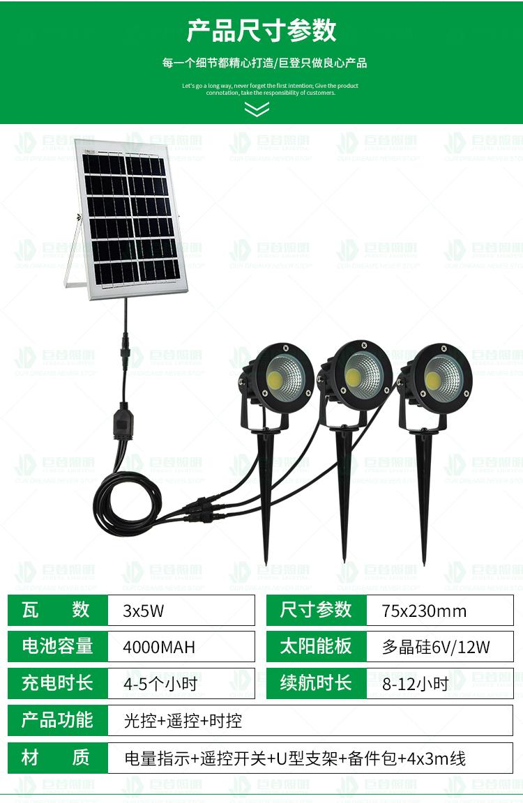 太陽能插地燈75c1