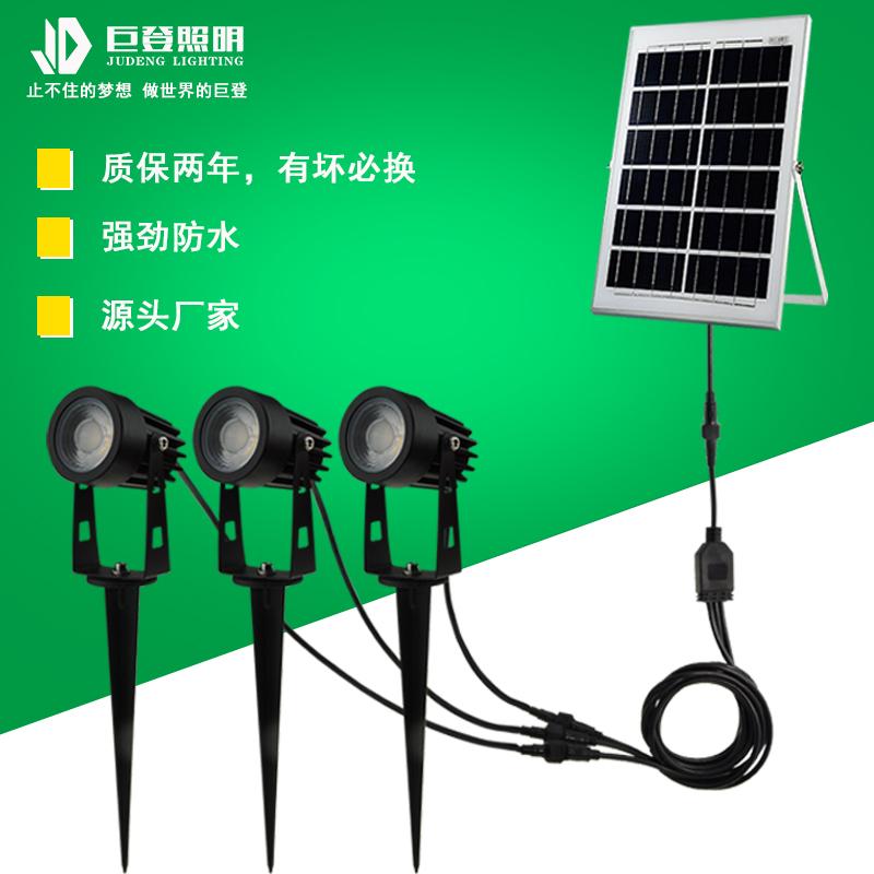 太陽能一拖三插地燈43