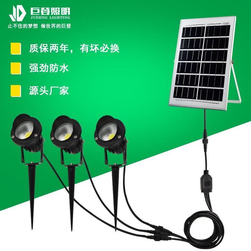 一拖三太陽能插地燈75C2