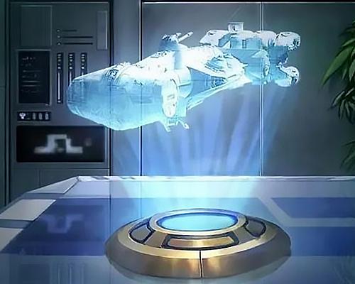 激光束投射實體的3D影像