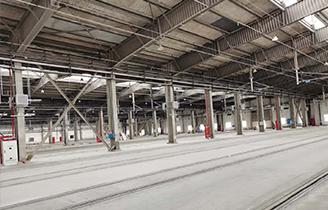 鄭州地鐵三號線機車檢測庫案例展示
