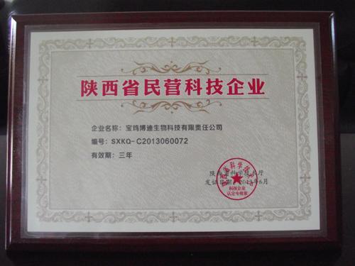 陜西省民營科技企業