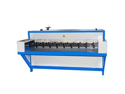 Horizontal insulating glass hot press
