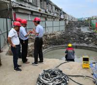 沉井法施工