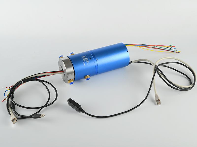 定制2路电10路10A电千兆网USB滑环