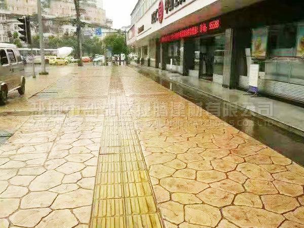 彩色混凝土壓模地坪