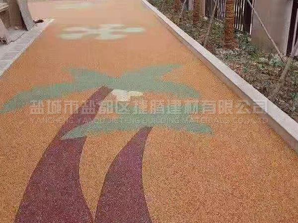 彩色膠粘石路面